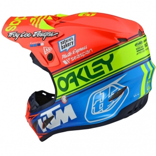Troy Lee Designs SE4 Team Edition 2 Composite Helmet - Orange Blue Image 3