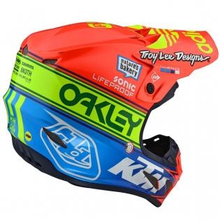 Troy Lee Designs SE4 Team Edition 2 Composite Helmet - Orange Blue Image 4