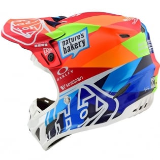 Troy Lee Designs SE4 Jet Composite Helmet - Navy Orange Image 3