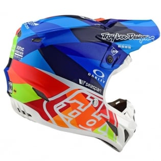 Troy Lee Designs SE4 Jet Composite Helmet - Navy Orange Image 4