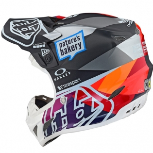 Troy Lee Designs SE4 Jet Composite Helmet - Red Yellow Image 3