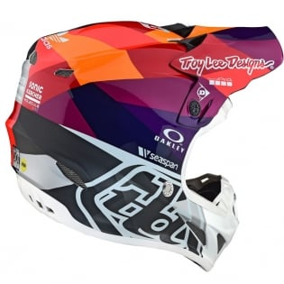Troy Lee Designs SE4 Jet Composite Helmet - Red Yellow Image 4