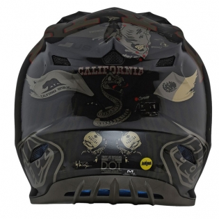 Troy Lee Designs SE4 Baja Polyacrylite Helmet - Black Image 2