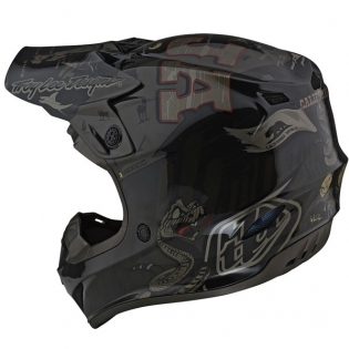 Troy Lee Designs SE4 Baja Polyacrylite Helmet - Black Image 3
