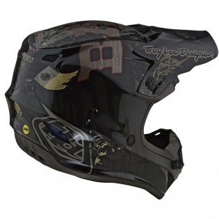 Troy Lee Designs SE4 Baja Polyacrylite Helmet - Black Image 4
