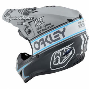 Troy Lee Designs SE4 Team Edition 2 Polyacrylite Helmet - Grey Image 3