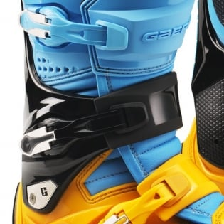 Gaerne SG12 Powder Blue Yellow Motocross Boots Image 2