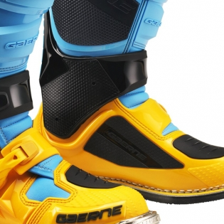 Gaerne SG12 Powder Blue Yellow Motocross Boots Image 4