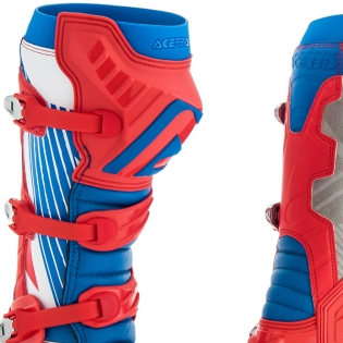 Acerbis X-Pro V Blue Red Motocross Boots Image 4