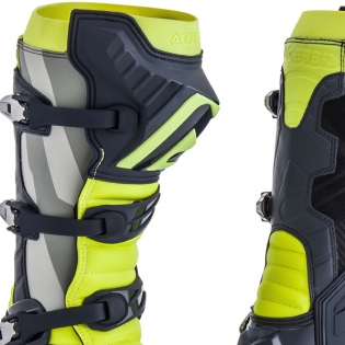 Acerbis X-Pro V Grey Yellow Motocross Boots Image 4