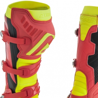 Acerbis X-Pro V Red Yellow Motocross Boots Image 4