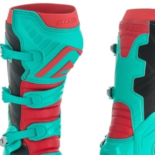 Acerbis X-Pro V Green Red Motocross Boots Image 4