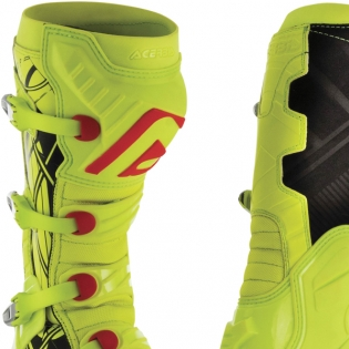 Acerbis X-Pro V Fluo Yellow Black Motocross Boots Image 4