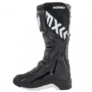 Acerbis X-Team Black White Motocross Boots Image 2