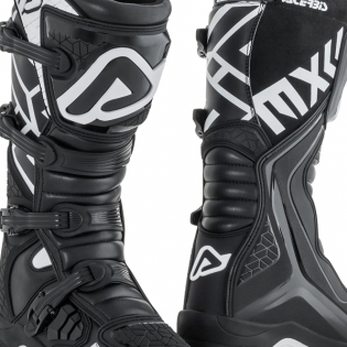 Acerbis X-Team Black White Motocross Boots Image 4