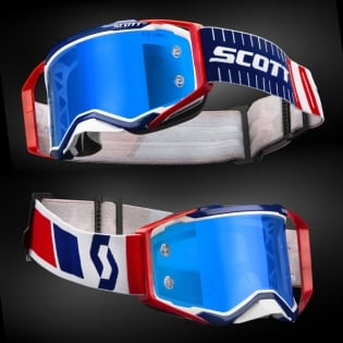 Scott Prospect Red Blue Electric Blue Chrome Goggles Image 2