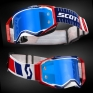 Scott Prospect Red Blue Electric Blue Chrome Goggles