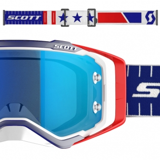 Scott Prospect Red Blue Electric Blue Chrome Goggles Image 3