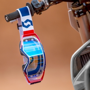 Scott Prospect Red Blue Electric Blue Chrome Goggles Image 4