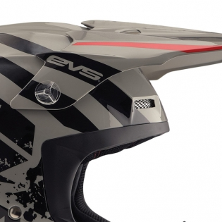 EVS T5 Grappler Grey Helmet Image 2