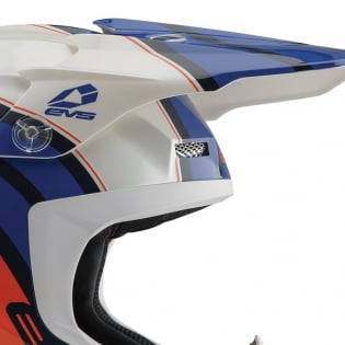 EVS T5 Cosmic Dark Blue Orange Helmet Image 2