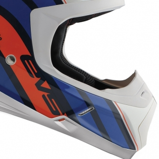 EVS T5 Cosmic Dark Blue Orange Helmet Image 4