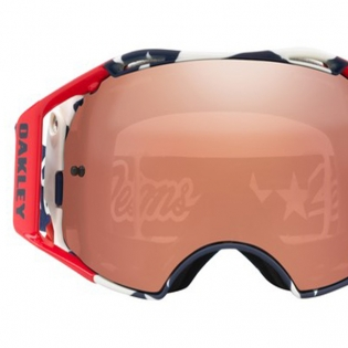 Oakley Airbrake Troy Lee Sig Liberty Red Wht Blue Prizm MX Goggles Image 3