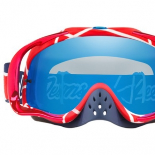 Oakley Crowbar Troy Lee Sig Metric Red Wht Blk Ice Iridium Goggles Image 3