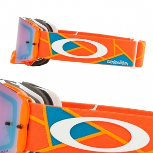 Oakley Front Line Troy Lee Sig Metric Red Org Prizm MX Goggles Image 3