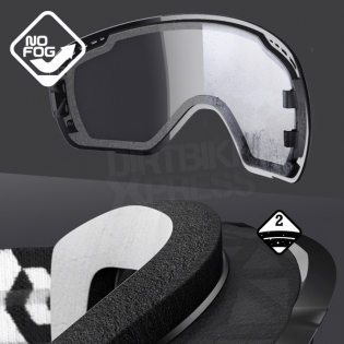 Scott Recoil Xi Black White Enduro Goggles  Image 3
