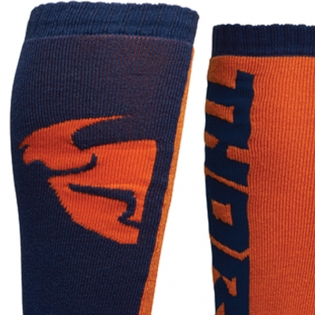 Thor MX Long Navy Orange Socks Image 3