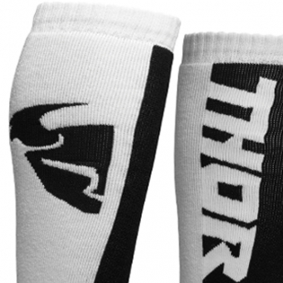Thor MX Long White Black Socks Image 3