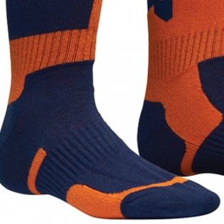 Thor Kids MX Long Navy Orange Boot Socks Image 2