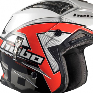 Hebo Zone 4 Fibre Kontrox Red Trials Helmet Image 2