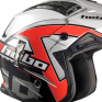 Hebo Zone 4 Fibre Kontrox Red Trials Helmet