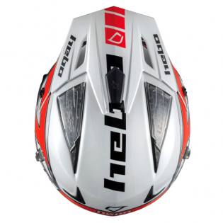 Hebo Zone 4 Fibre Kontrox Red Trials Helmet Image 3