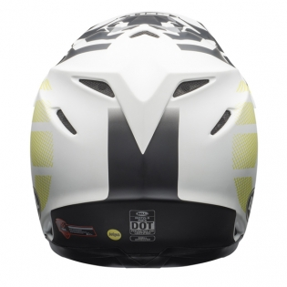 Bell Moto 9 MIPS District Matte White Black Green Helmet Image 2