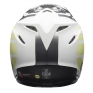 Bell Moto 9 MIPS District Matte White Black Green Helmet