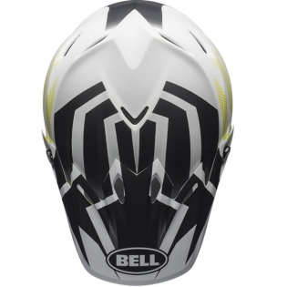 Bell Moto 9 MIPS District Matte White Black Green Helmet Image 4