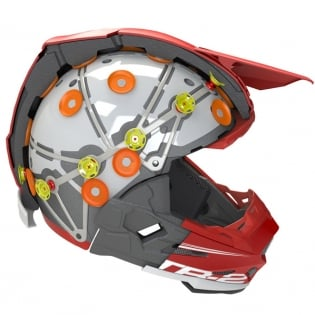6D ATR-2 Circuit Black Red Helmet Image 2