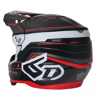 6D ATR-2 Circuit Black Red Helmet Image 3