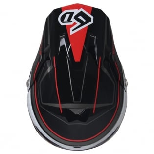 6D ATR-2 Circuit Black Red Helmet Image 4