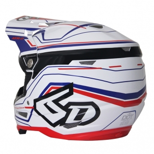 6D ATR-2 Circuit Red White Blue Helmet Image 3
