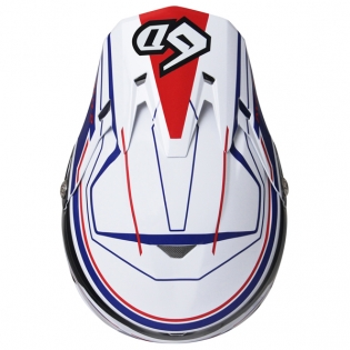 6D ATR-2 Circuit Red White Blue Helmet Image 4