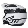 6D ATR-2 Sector Black White Helmet