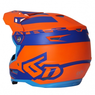 6D ATR-2 Sector Blue Orange Helmet Image 3