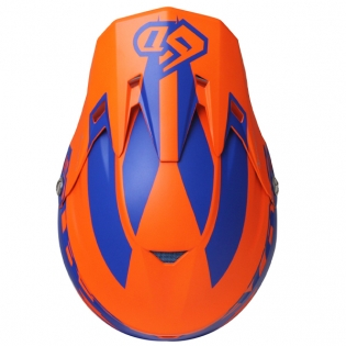 6D ATR-2 Sector Blue Orange Helmet Image 4