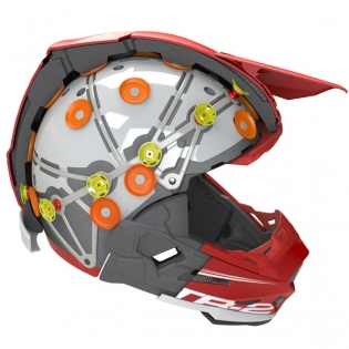 6D ATR-2 Sector Teal Orange Helmet Image 2
