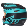6D ATR-2 Sector Teal Orange Helmet