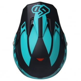 6D ATR-2 Sector Teal Orange Helmet Image 4